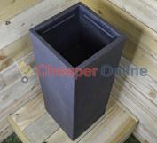 79.5cm Cube Rectangular Flower / Plant Pot Garden Chimney Pot Grow Garden Patio