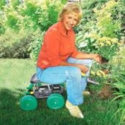 Rolling Garden Seat Gardening Tray Work Stool Scooter Tools Holder Chair