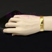 Magnetic Tungsten Carbide Cts Arthritis Energy 24k Gold Fill Identity Bracelet