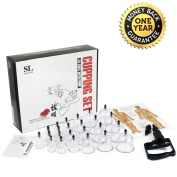 Sunlitlife Reinforced Plastic Chinese Cupping Therapy Set With Large Suction...