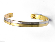 New Genuine Mens Womens Gold & Silver Tone Copperfield Magnetic Therapy Bangle
