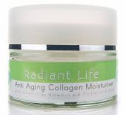 Radiant Life Anti Ageing Moisturiser Cream, With Marine Collagen, Peptides, E, C