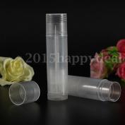 10pcs Empty Clear Lip Balm Tubes Containers Transparent Lipstick