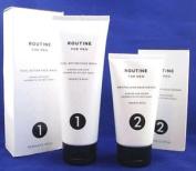 Routine For Men Dual Action Face Wash 100ml & Revitalising Moisturiser 75ml Bnib