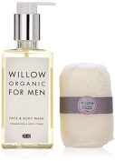 "Willow Organic Beauty Men""s Face/body Wash And Soap Set"