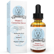 Bebarefaced Vitamin E Face Oil - Facial Vitamin C Night Serum With Hyaluronic
