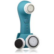 Magnitone Full Monty Vibra-sonic 3-in-1 Face And Body Brush, Blue