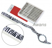Hairdressing ,hair Thinning Razor, Original Zebra Pattern + 10 Spare Blades