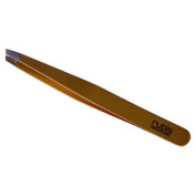 Rubis Tweezers Slanted Tip Stainless Steel Gold Plated