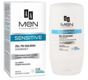 Aa Men Hypoallergenic Sensitive After Shave Cooling Gel Menthol Aloe 100ml