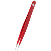 Rubis Tweezers Pointed Elegance Red Swiss Cross 9.5cm