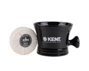 Kent Porcelain Shaving Mug And Soap Black