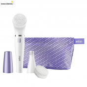 Braun Purple Face 832 Facial Epilator And Cleansing Brush