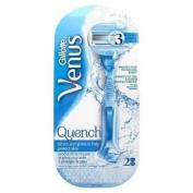 ** Gillette Venus Quench Razor New ** Shave 3 Blades 2 Cartridges
