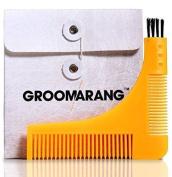 Groomarang Shaving Kit Beard Catcher Styling & Shaping Template Comb Salon New
