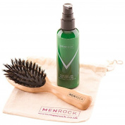 Men Rock Sicilian Lime Beard Balm And Premium Hog Hair Beard Brush Set