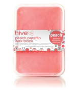 Hive Of Beauty Waxing Peach Low Melt Paraffin Heat Therapy Treatment 450g Block