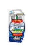 Lamette Per La Rasatura Usa E Getta Titanium Sensitive 3 + 1