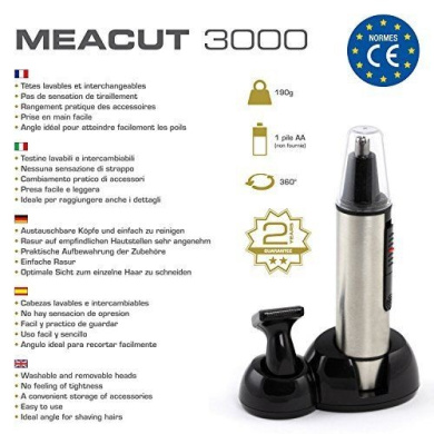!! New!! Nose, Ear, Eyebrows And Beard Trimmer - 2 Interchangeabl