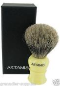 Luxury Ivory Shaving Brush Pure Badger Hair Bristles For Wet Shaving