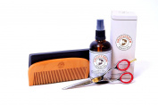 Grizzly Adam Beard Care Kit - Perfect Grooming Set For Men - Beard Oil, Beard