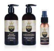 By My Beard Care Kit - Shampoo, Conditioner & fa