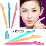 12x Pro Tinkle Eyebrow Razor Blade Trimmer Shaper Shaver Facial Hair Remover Set