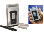 Livivo Mens Wet & Dry Travel Small Micro Compact Shaver Battery Operated Razor