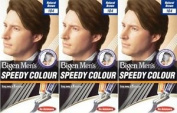 Three Packs Of Bigen Mens Speedy Hair Colour 104 Natural Brown