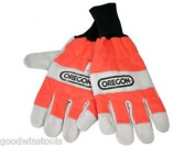 Oregon 91305xl Leather Chainsaw Gloves Left Hand Protection Only Xlarge Size 11
