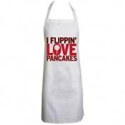 I Flippin' Love Pancakes White Apron