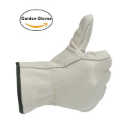 Ozero Work Gloves, Leather Working Glove With Elastic Wrist - Soft & Flexable