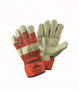 Briers Children's Orange Rigger Gloves Gardening Outdoors