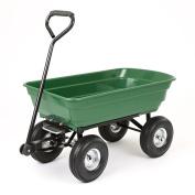 New 250kg Garden Cart Heavy Duty 4 Wheel Trolley Wheelbarrow Tipper Truck Waggon