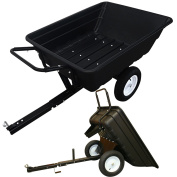 Ride On Lawnmower Tipping Trailer Garden Tractor Transporting 300kg Capacity