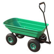 Power King Garden Tipping Truck 50l Tipper Wheel Barrow With 25cm Pneumatic With