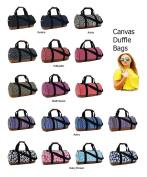 Womens Girls Printed Owl Polka Flower Canvas Duffel Bag Travel School Gymstylish