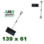 Amh Motortec Snow Shovel 55 + 61 Cm Wide, Black