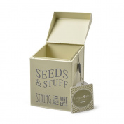 Burgon & Ball Seeds & Stuff Tin Jersey Cream Storage Container Metal Organiser