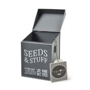Burgon & Ball Seeds & Stuff Tin Slate Grey Metal Enamel Storage Container