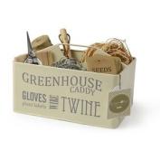 Burgon & Ball Greenhouse Caddy Jersey Cream Gardening Storage Container Tin
