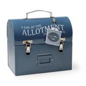 Burgon & Ball Tool & Tuck Box Petrol Blue - Lunch Storage Tin Gardening