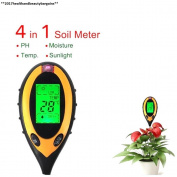 4 In 1 Soil Moisture Tester Metre Digital Lcd Temperature Sunlight Ph...