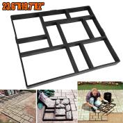 Handmade 10 Grids Garden Pavement Block Paving Concrete Mould Driveway Path Mould