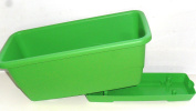 Grosfillex Plastic Plant Trough With Drip Tray Lime Green 50cm