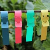 Meta-label 100pcs Wrap Around Plastic Plant Nursery Garden Labels Tags - 2x20cm