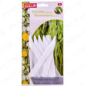 30 X White Plastic Plant Stakes Identify Garden Seed/flowers Stick Label Markers