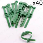 40 X Wall Mounted Adjustable Garden Tie Strap Plant Flower Tree Training Support