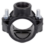 Hdpe 10 Bar Saddle Clamp 50mm X 3/4 Female Threaded Outlet