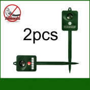 Keno Ultrasonic Animal Repeller Solar Pest Repeller Repel Cat Bird Squirrel Deer
